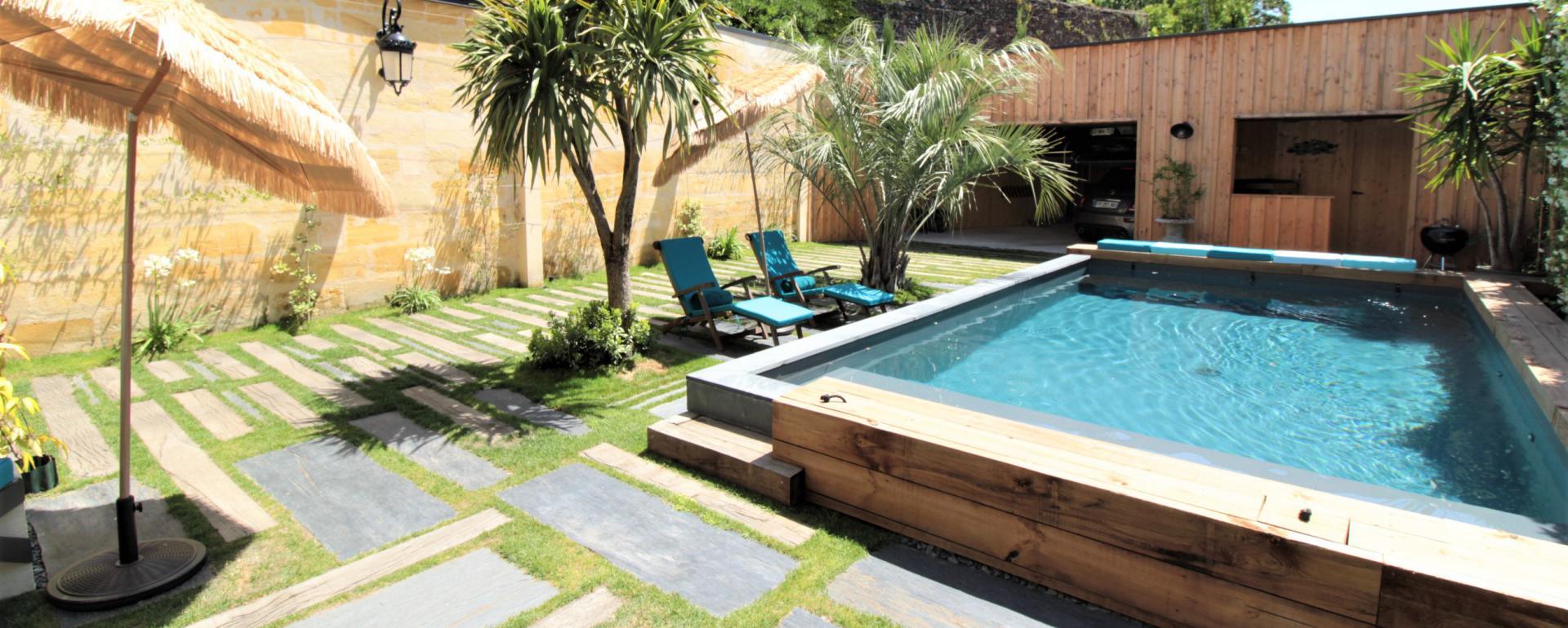Incroyable maison à St Seurin, garages, piscine et ascenseur